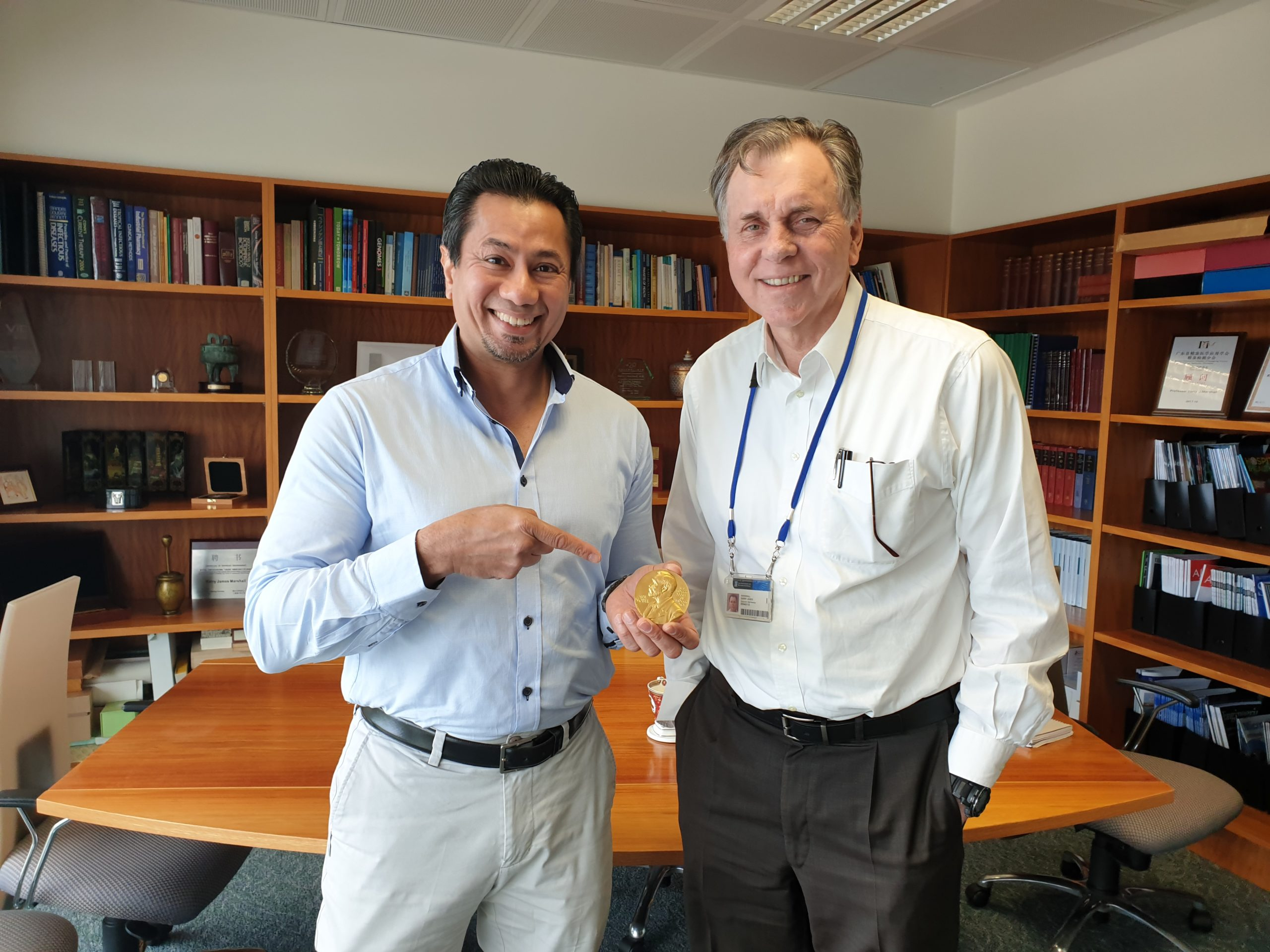 Meeting with Nobel Laureate, Prof. Barry Marshall (AC FRACP FRS FAA)
